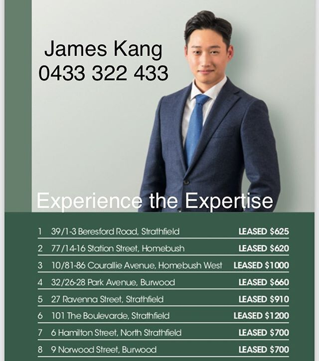 In your letter box now!  Your local leasing agent James Kang 0433 322 433  #belle #belleproperty #team #realestate #realtor #pm #property #management #leasing #rent #forrent #forlease #leased #marketing #investment #local #agent #apartment #house #home #innerwest #sydney #localrealtors - posted by Belle Property Strathfield https://www.instagram.com/bellepropertystrathfield - See more Real Estate photos from Local Realtors at https://LocalRealtors.com