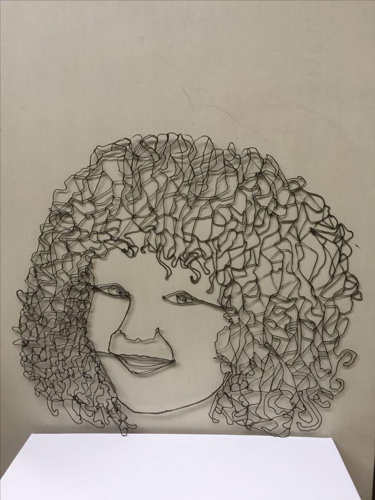 portrait made with 3D pen.