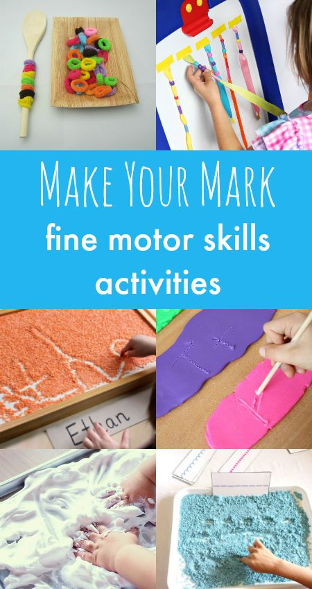 Fine motor skills activities, fine motor centers, sensory writing activities, finger gym ideas
