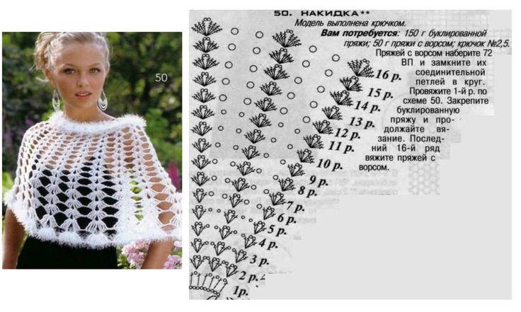 Ponchos colorés : modèles et grilles à imprimer ! - Crochet Passion