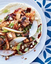 Crunchy Tofu Tacos.    From his Pepto-pink truck, Joe Kim of the Flying Pig sells French-Asian tacos and sliders all around L.A., playfully combining ingredients like the fried tofu and peanuts here. http://food-trucks-for-sale.com/