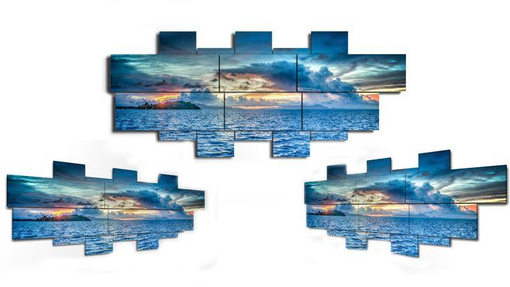 11 pieces wall art - 232x98 cm
