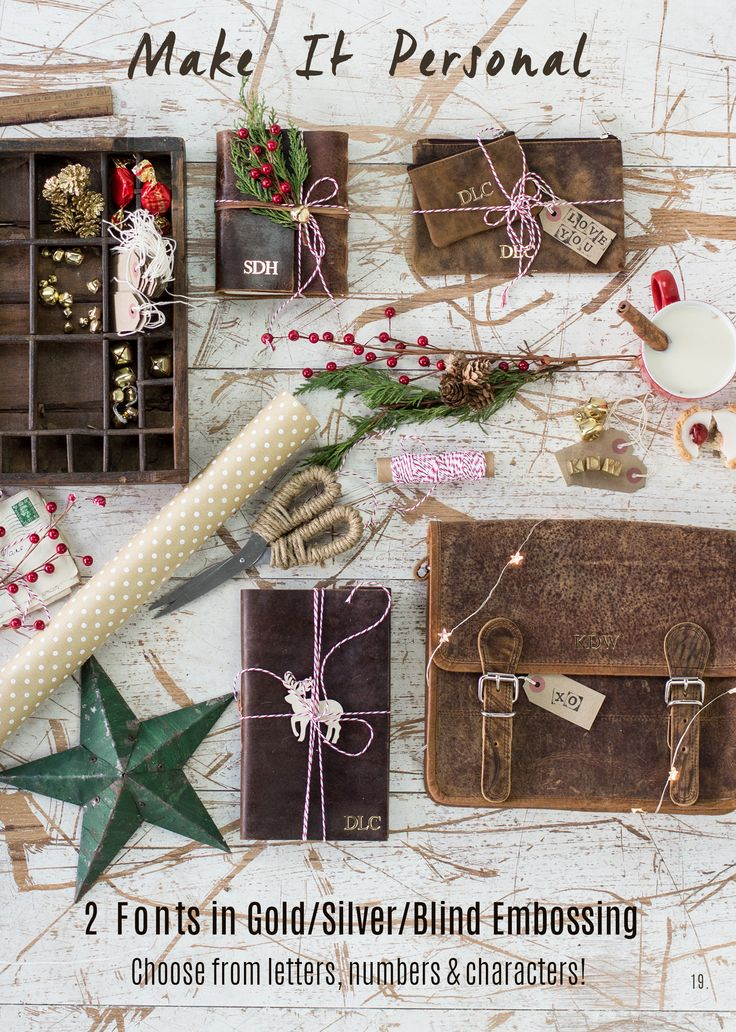 Make Christmas special this year by getting your leather bags & accessories embossed