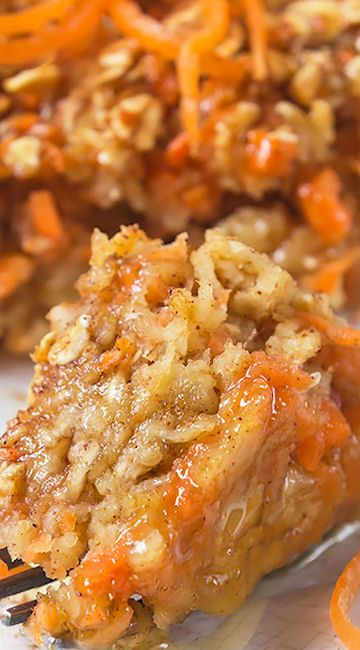 Carrot Cake Baked Oatmeal - used almond milk instead of regular, also added 1…