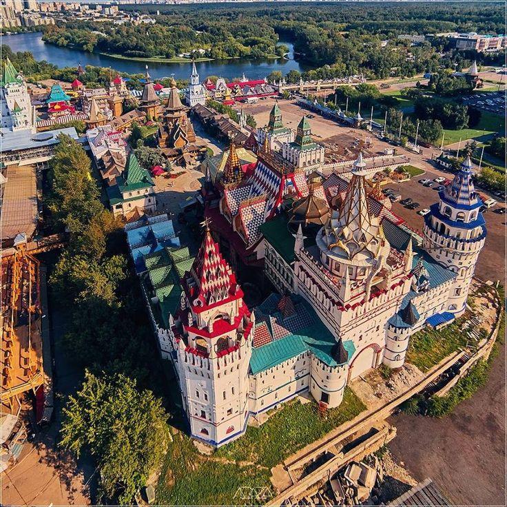 Измайловский Кремль с высоты птичьего полёта