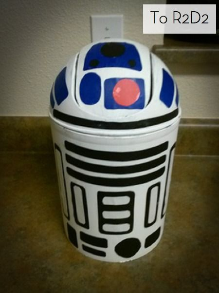 How to Turn a Trashcan into R2-D2 » I bought this trashcan 3 years ago with such good intentions!