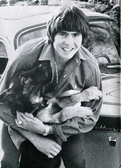 Davy Jones (The Monkees) cute dog and owner ;)