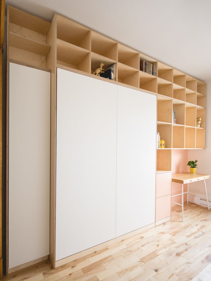 Custom retractable bed by Catherine Catherine. Photos by Raphaël Thibodeau.