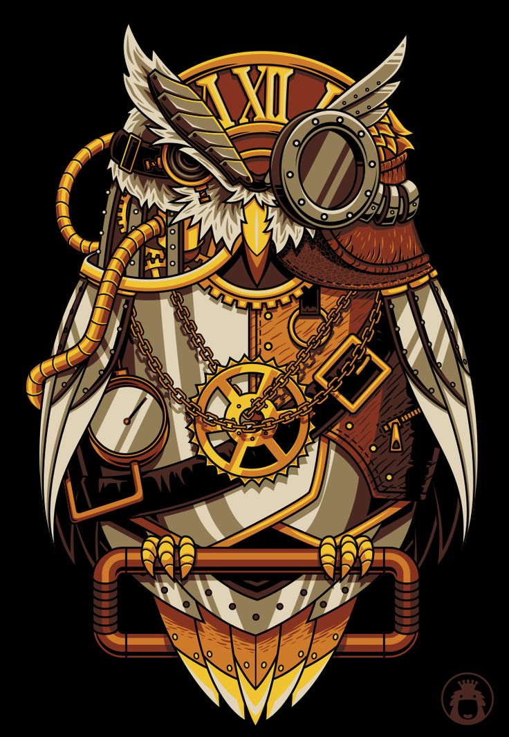 - SteamPunk Owl by anggatantama