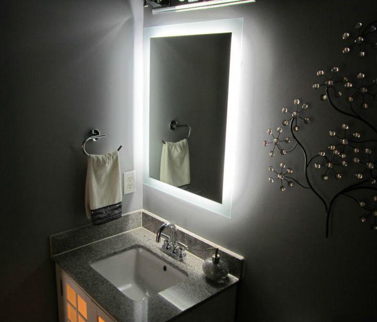 Hotel Led Backlit Bathroom Mirror Decorative Lighting  Malibu remodel  Backlit bathroom mirror
