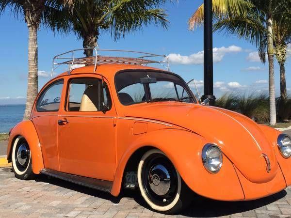 Seller Of Classic Cars 1974 Volkswagen Beetle Classic Orange Tan Volkswagen Beetle Volkswagen Beetle