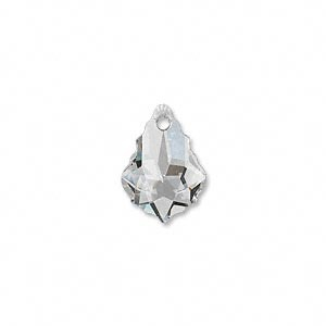 Swarovski® 16x11mm baroque crystal clear pendant pk2