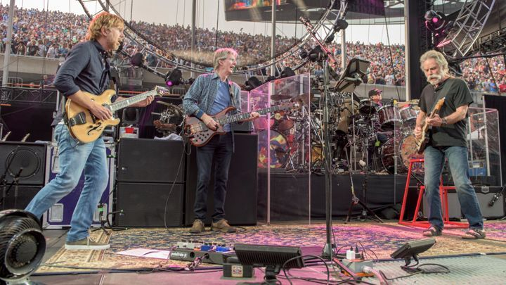 Grateful Dead,Last night was the first show of the group's three-night Fare Thee Well run, billed as the last shows the surviving Grateful Dead members will play as a group.   Read more: http://www.rollingstone.com/music/news/grateful-deads-goodbye-night-one-classics-and-curveballs-in-chicago-20150704#ixzz3ewoO8ohi  Follow us: @rollingstone on Twitter | RollingStone on Facebook