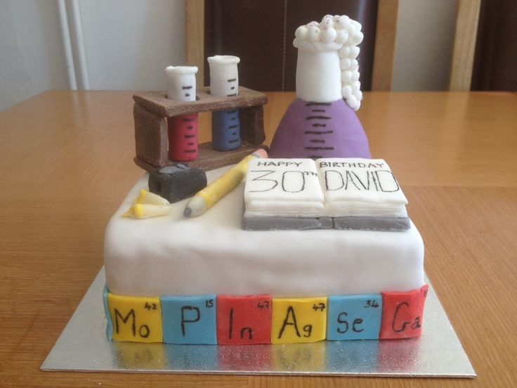 30th birthday Chemistry teachers cake