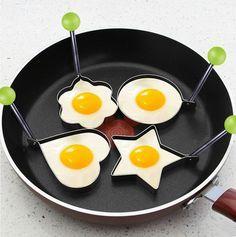 Frying egg molds. Star, heart, flower, circle.