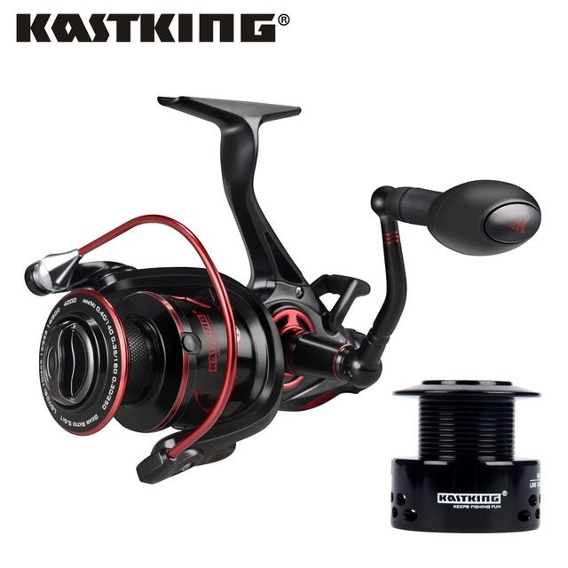KastKing Sharky Baitfeeder III Smooth Saltwater Spinning Reel 10+1 BBs 12 Max Drag Power Carp Fishing Reel with Free Extra Spool