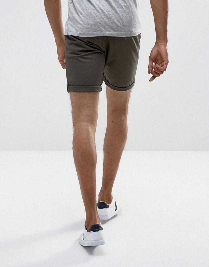 ASOS Slim Chino Shorts In Forest Green - Green
