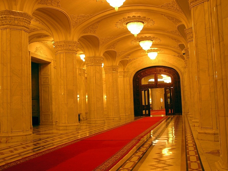 The interior of the Romanian Parliament Palace :) #Romania #travel
