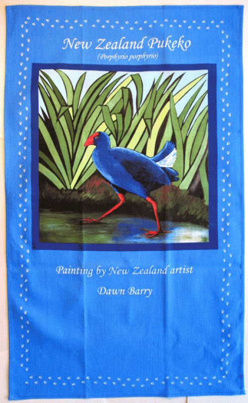 Wildside Pukeko Tea Towel by Dawn Barry