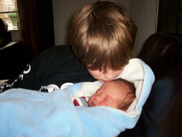 Justin and his newborn brother Colin