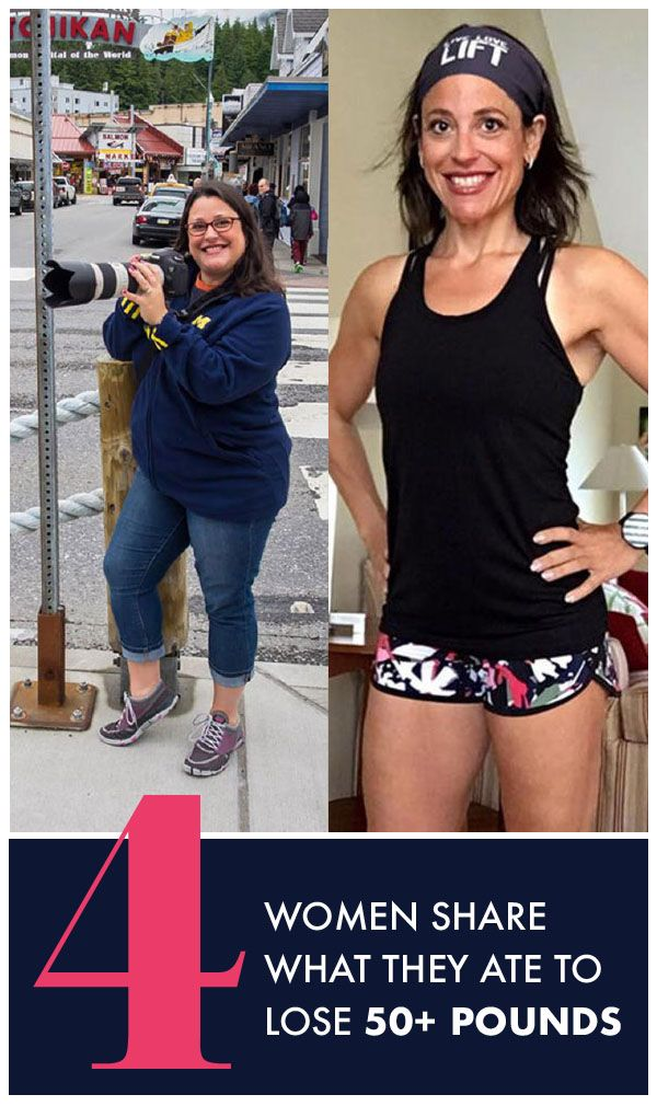 4 women are sharing exactly what foods they ate to lose 50+ pounds for an incredible weight loss journey. Womanista.com