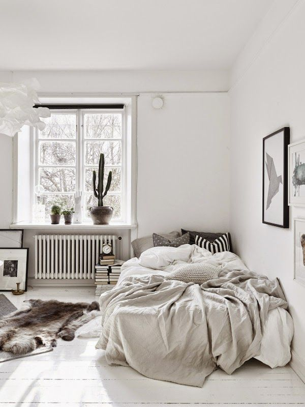 Small space inspiration in monochrome White RoomsWhite