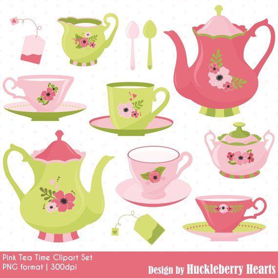 Tea Time Clipart Tea Party Clipart Tea Clipart Tea Cups Etsy Party Clipart Clip Art Tea Party
