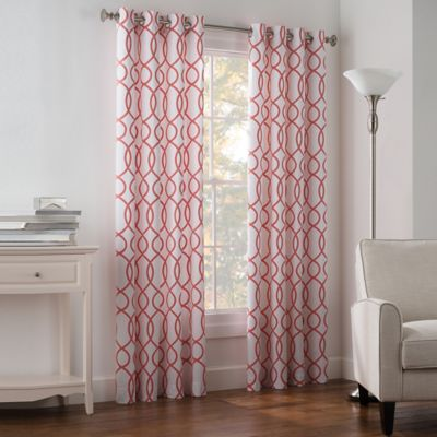 Newport Wave Light-Filtering Grommet Top Window Curtain Panel - BedBathandBeyond.com