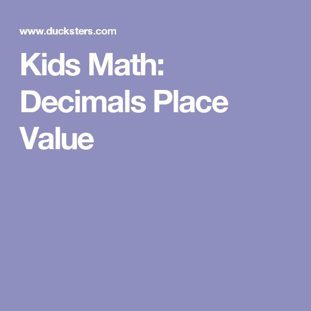 Kids Math: Decimals Place Value