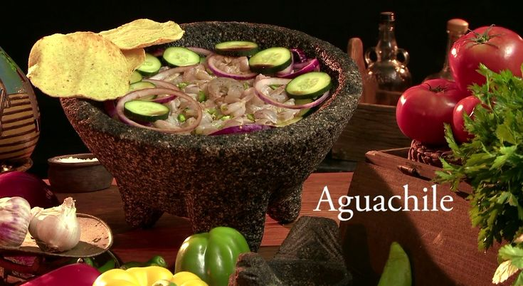 Aguachile is one of the main and most popular dishes in Mexican Seafood. Even though its recipe varies from state to state, however the concept is always the same, fish or seafood mixed with lemon juice, salt, peppers, water and fresh vegetables like cucumbers onions and more.