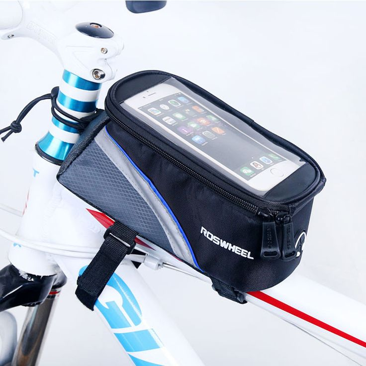 Bicycle Mobile Phone Pouch 4.2/5.0/5.5 inch Touch Screen Top Frame Tube Storage Bag Cycling MTB Road Bike Bycicle Roswheel 12496