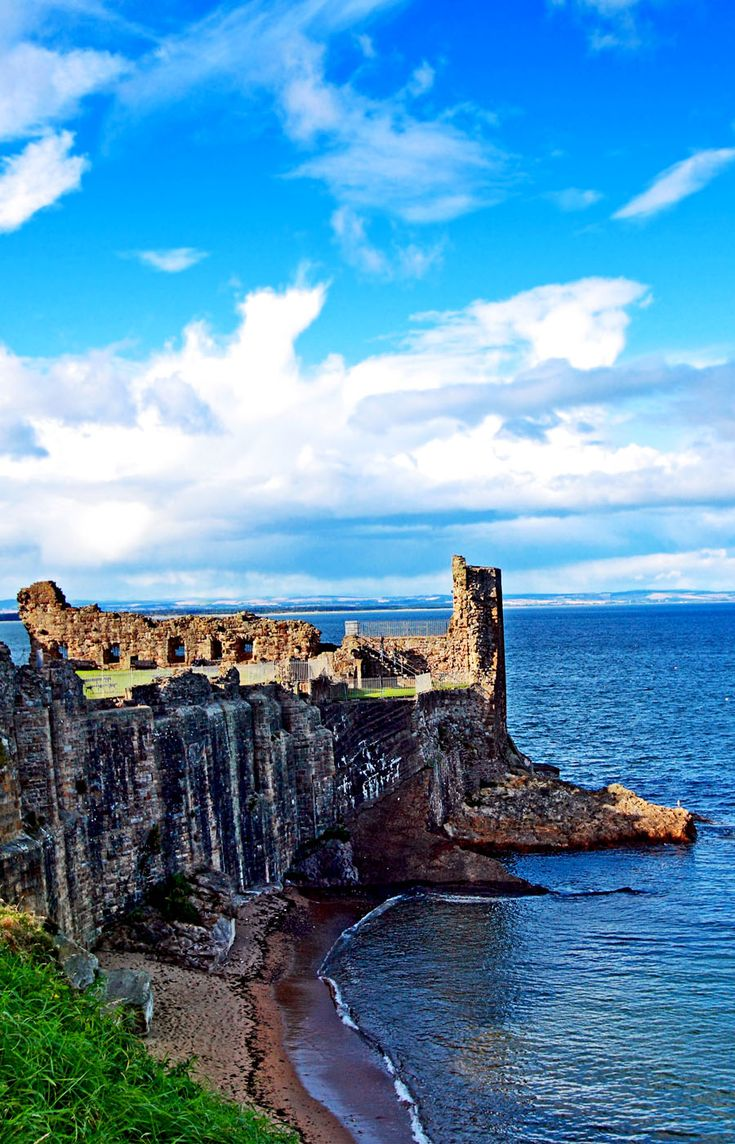 Ruins of St Andrews Castle, Fife, Scotland
