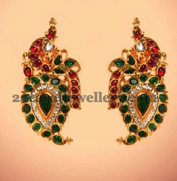 Jewellery Designs: Colorful Mango Earrings