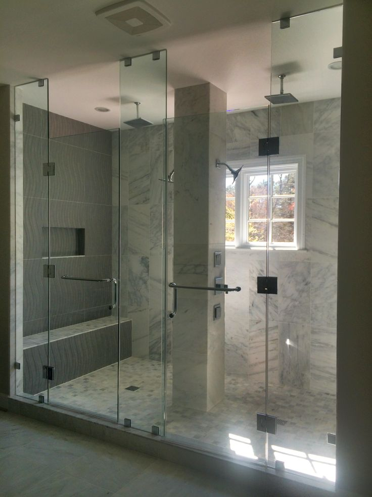 Large custom two-person shower. Gulick Group luxury home ...