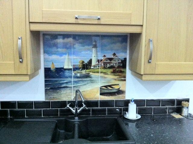 1000 images about lighthouses ships on pinterest for Nautical kitchen backsplash