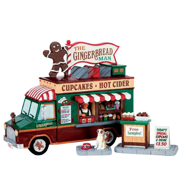LEMAX CHRISTMAS VILLAGE TOWN CITY New 2016 THE GINGERBREAD MAN 3 pc Table Accent