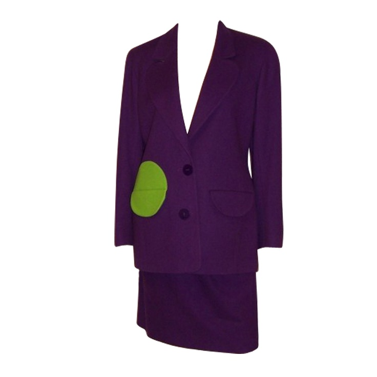 1stdibs - Arabella Pollen Violet & Chartreuse Wool Suit explore items from 1,700  global dealers at 1stdibs.com