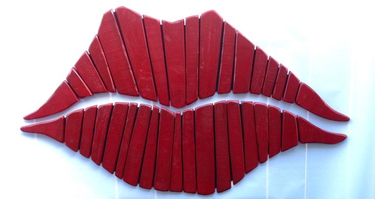 Red Lips, Salon Decor, Kiss, Pallet Wall Art, Wall Art, Love, Marilyn Monroe Lips,Rustic Art, Red Lipstick, Romance, Wood Lips, Large Lips by stonewoodrustics on Etsy