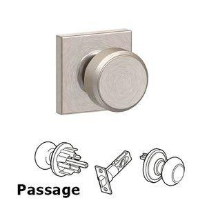 Collins - F Series - Bowery with Collins Passage Door Knob in Satin Nickel - Schlage Door Hardware