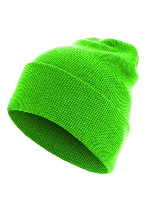 Czapka Master Beanie Basic Flap Long neongreen