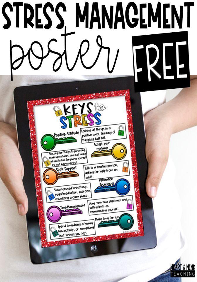 Stress Management poster FREEBIE   Stress management ...