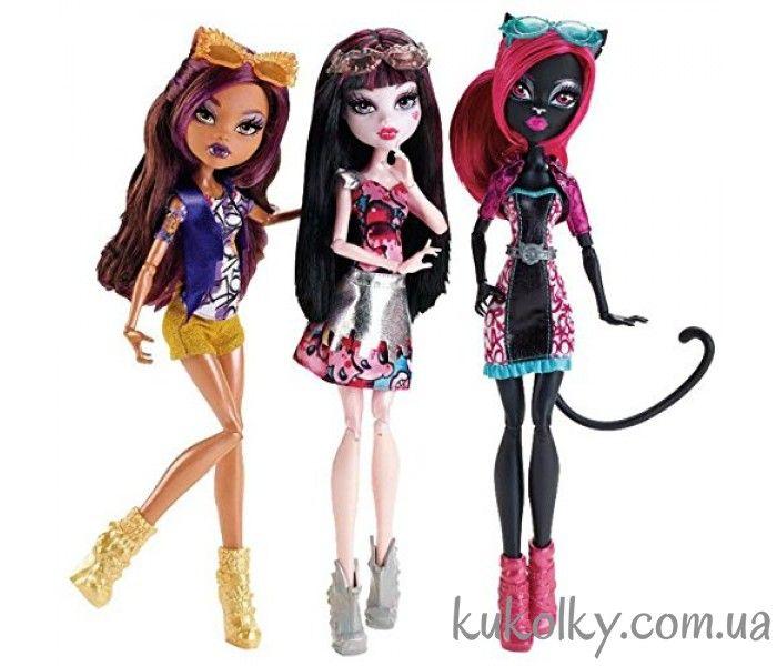 Бу Йорк набор Клодин Кетти и Дракулаура купить Boo York Out of Tombers Dolls 3 Pack Catty Noir, Draculaura and Clawdeen Куколки