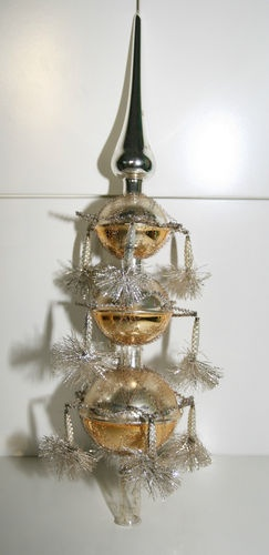Vintage German Christmas Tree Topper with Tinsle Wire Mercury Glass Victorian | eBay