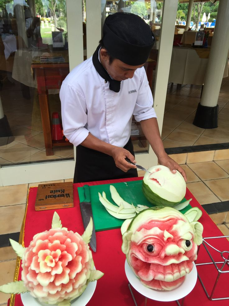 Fruit Carving By Staff