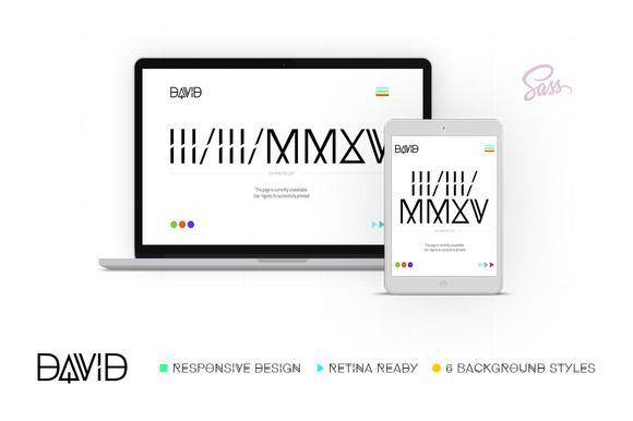 David – Mini Site | Coming Soon by ThemeBridge on @creativemarket