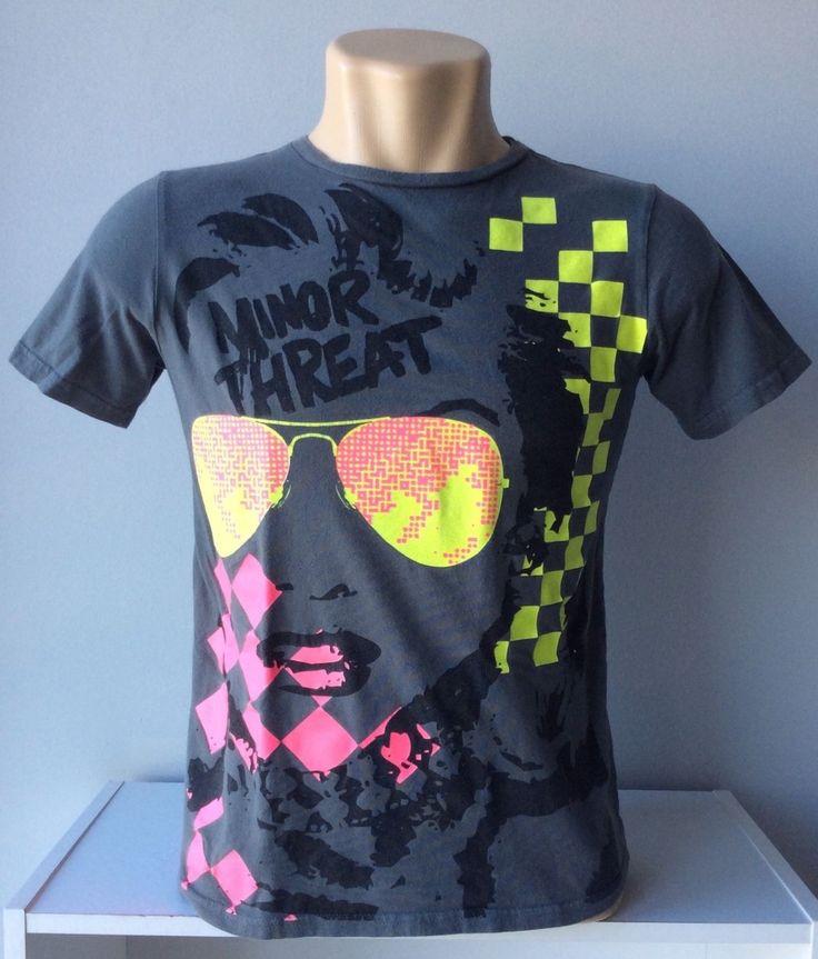 Vintage Concert Tee Shirt  / RARE 90s MINOR THREAT All over Tee / Vintage 90s Straight Edge Hard Core Band Concert Tee Shirt Minor Threat S by HippieGypsyBoutique on Etsy