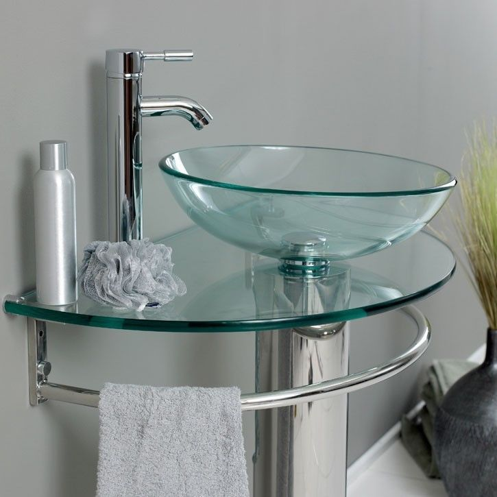 bathroom tempered clear pedestal glass vessel sink u vanity faucet xx