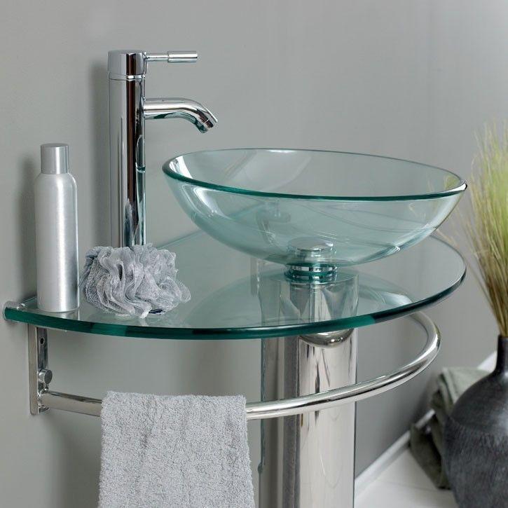 Las 25 mejores ideas sobre lavabo de pedestal para cuarto for Lavabo vidrio