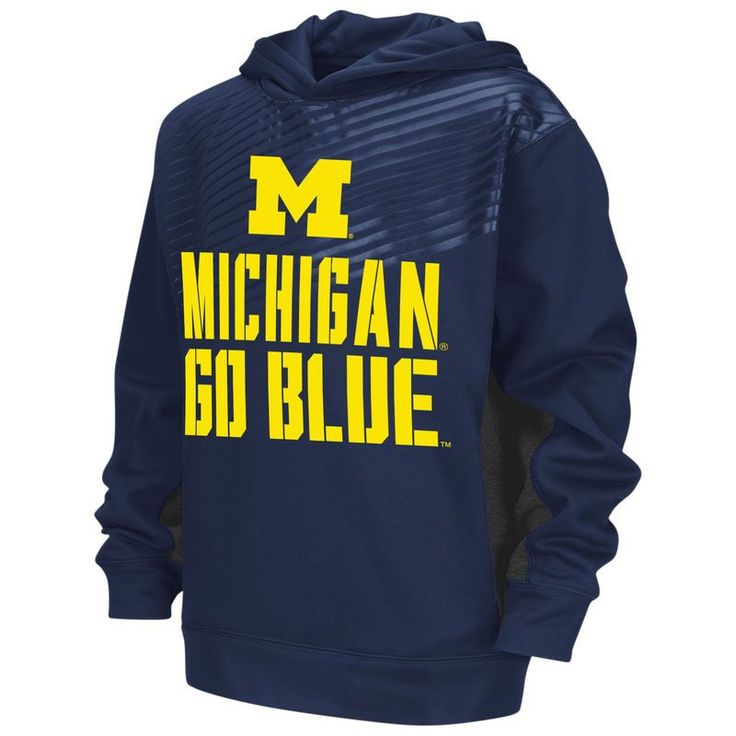 Michigan Wolverines Colosseum Youth Sonic Pullover Hoodie - Navy