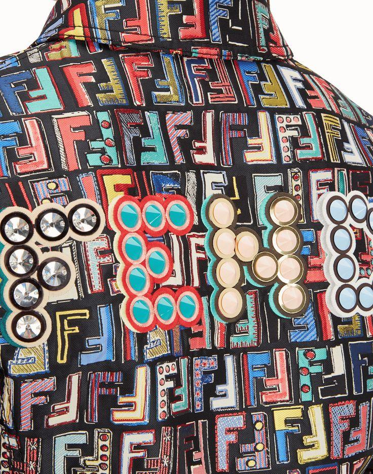 FENDI 재킷 - 멀티 컬러의 자카드 패브릭 재킷 - view 4 detail